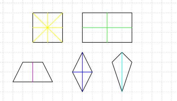 Lernpfade/Achsenspiegelung/Achsensymmetrische Vierecke und Dreiecke ...